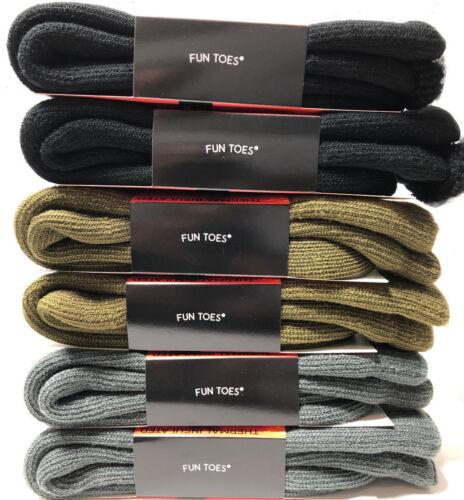 Men/'s Super Warm Heavy Duty Thick Thermal Winter Work Socks Lot  3 6 12 Pack