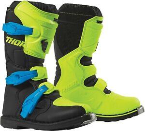 Thor Blitz MX Riding Boots Adult Sizes Motocross Dirt Bike Blue Red Green Orange