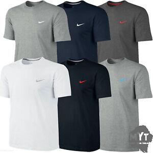 Nike-New-Mens-T-Shirt-Gym-Cotton-Sports-Crew-Jog-Jogging-Casual-Size-S-M-L-XL