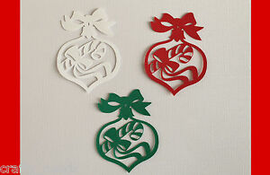 10PC-Christmas-Bauble-Silhouette-Die-Cuts-Ornaments-Embellishments