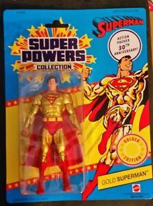 Superman Action Figure Golden Edition 30th Anniversary Classics Super Powers NIB