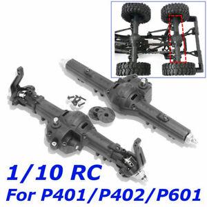 Crawler-Truck-Achse-vorne-Rear-Gear-Box-Set-fuer-1-10-RC-HG-p401-p402-p601-schwarz