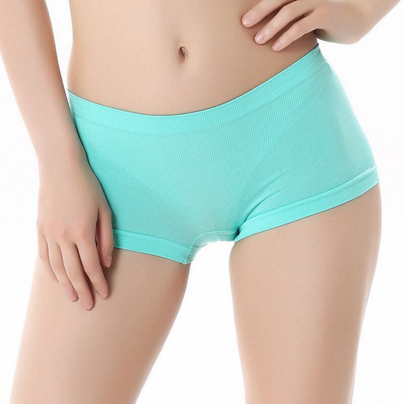 Women Sports Breathable Briefs Boyshort Yoga Seamless