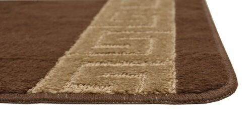 "Custom Size Greek Key Meander Brown Runner Rug 26/"" Width Choice of Your length"