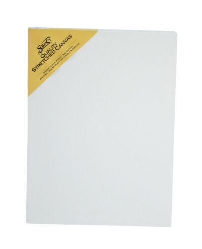 Double Acrylic Primed 12 x 16 Inches White Sax Quality Stretched Canvas