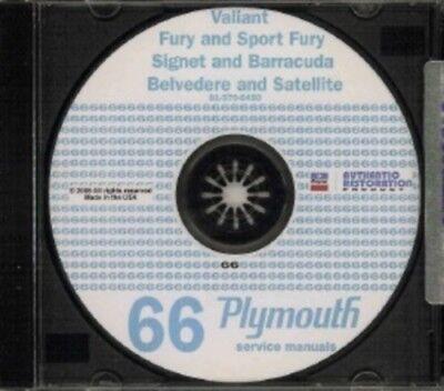 Valiant PLYMOUTH 1969 Barracuda Belvedere /& Satellite Shop Manual CD Fury