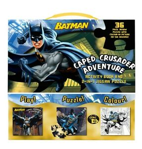 NEW SEALED 2016 DC Batman Caped Crusader Adventure Book + Jigsaw Puzzle Set