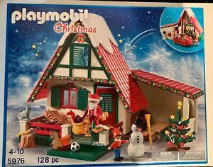 Playmobil-5976-Santa-039-s-Workshop-Casa-de-Navidad-Set-retirado-Nuevo