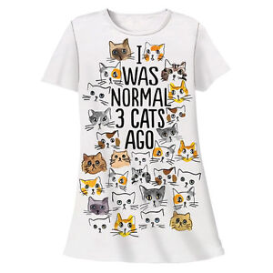 I-Was-Normal-3-Cats-Ago-Cats-Pajama-Shirt
