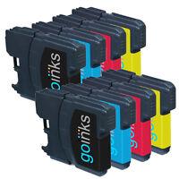 8 Ink Cartridges Bk/C/M/Y (2 Sets) for Brother MFC-J265W MFC-J410 MFC-J415W