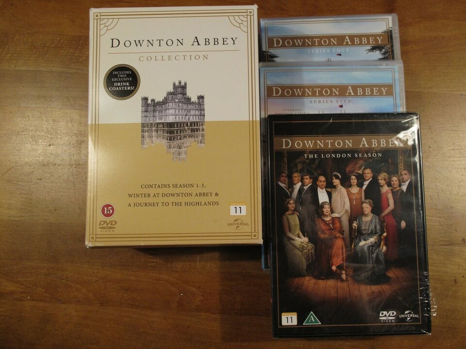 Downton Abbey Series One to Five + andre, DVD, TV-serier