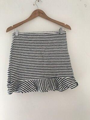 Ehrgeizig Ladies Skirt Berksha L White Stripe <jj7782 Damenmode