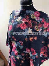 Printed Denim Artistic Floral/Flower Comfort Stretch Cotton Dressmaking Fabric