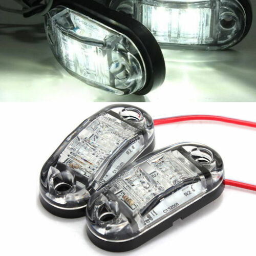 12V 2 LED Front Side Marker Light Position Truck Trailers side lights Universal