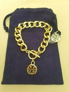 Tory Burch 2021 Gold Logo Toggle  Bracelet