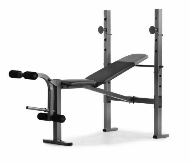 Weider Webe60610 6 1 Multi Position Weight Bench With Leg Developer And Exercise Chart For Sale Online Ebay