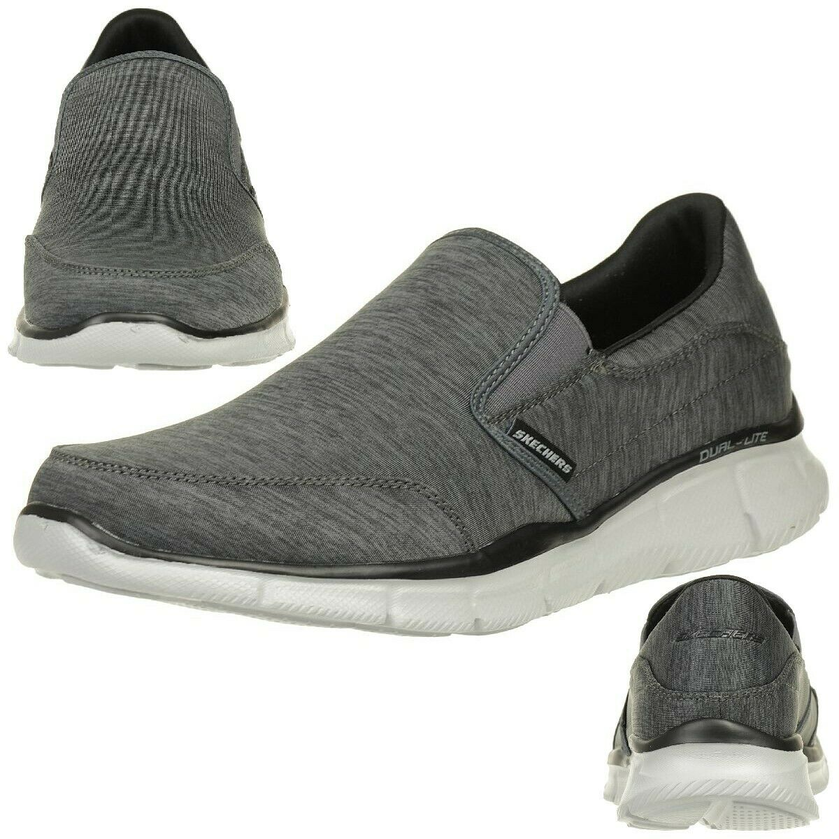 Skechers Equalizer Forward Thinking Men's Slippers Moccasin Slip on gris