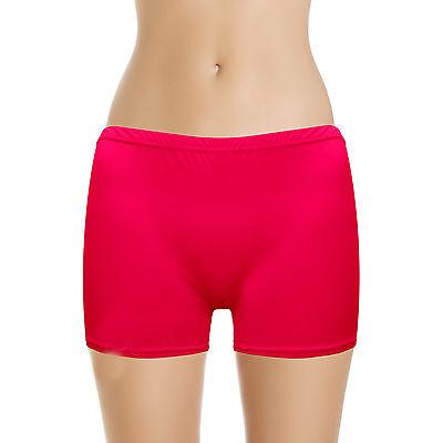Women,s Ladies Girls Neon Lycra Stretchy Sexy Hot Pants lot 80's Dance wear