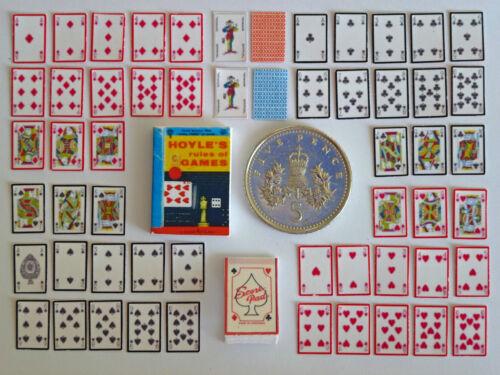 Maison de poupées miniature 54 cartes à jouer-hoyles rule book-score pad-handmade