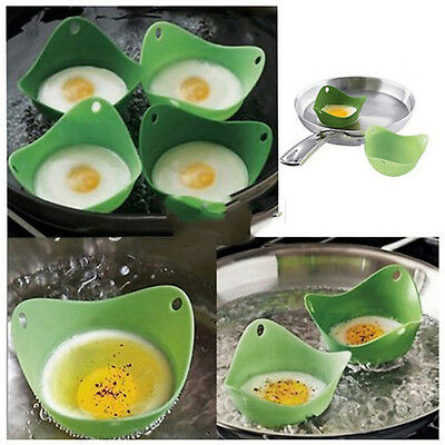 NEW Style 2X Kitchen Silicone Fried Fry Frier Oven Pancake Egg Poach Mold JCAU