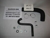 CJ GAS TANK FUEL FILLER & VENT HOSES WITH CLAMPS & ADAPTER, 1977 CJ CJ5 CJ7