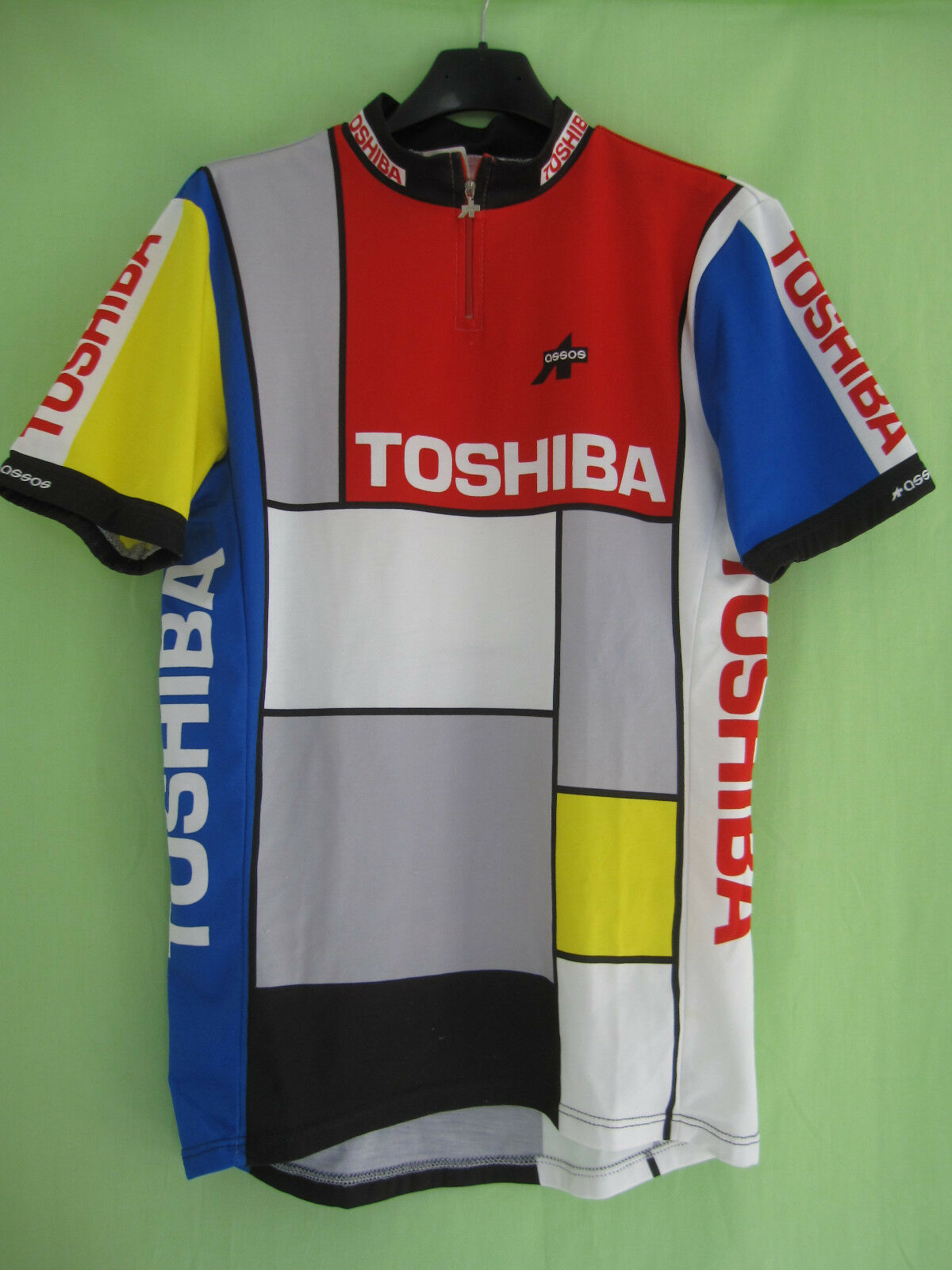 Maillot cycliste Toshiba Tour Pro 1989 ASSOS Vintage Jersey Cycling - XL