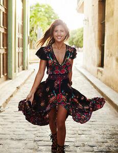 Plage robe longue Boho femme été Patchwork Party Maxi robe de soirée