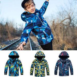 Kids Polar Fleece Ski Snow Winter Jacket Boys Coats Children Wind//Waterproof