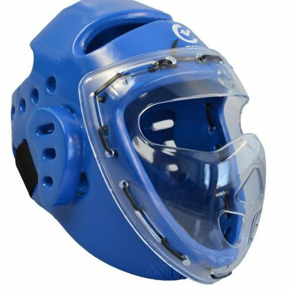 Phönix- Kopfschützer blau Schaumstoff, Maske, WTF. XS-XL. Kickboxen. Taekwondo.