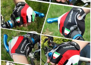 Guanti-Ciclismo-Mezze-dita-MTB-Bicicletta-Italia-Traspiranti-Gel-Corsa