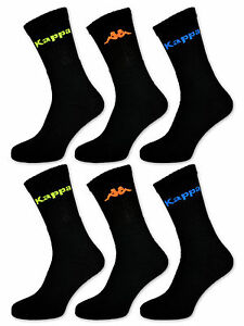 6-or-12-Pair-Kappa-Sports-Socks-Tennis-Socks-Work-Socks-Men-039-s-Socks-Neon