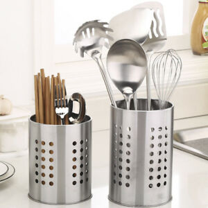 Kitchen-Stainless-Steel-Utensil-Cooking-Spoon-Tool-Storage-Chopstick-Holder