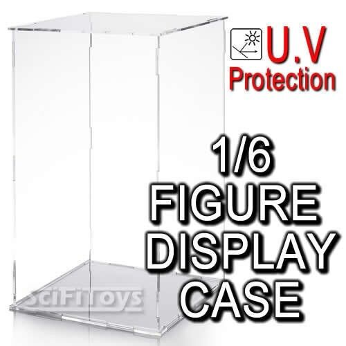 1/6 sixth scale Figure Clear display case box UV protection Hot toys sideshow