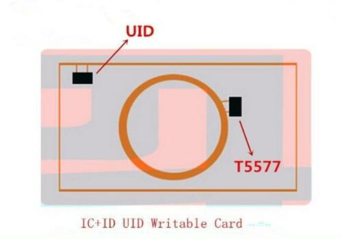 3X 125Khz 13.56Mhz T5577 UID Dual Chip Changeable Proximity RFID Writable Cards