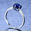 1-6ct-Round-Cut-Blue-Sapphire-Engagement-Ring-14k-White-Gold-Finish-Solitaire thumbnail 3