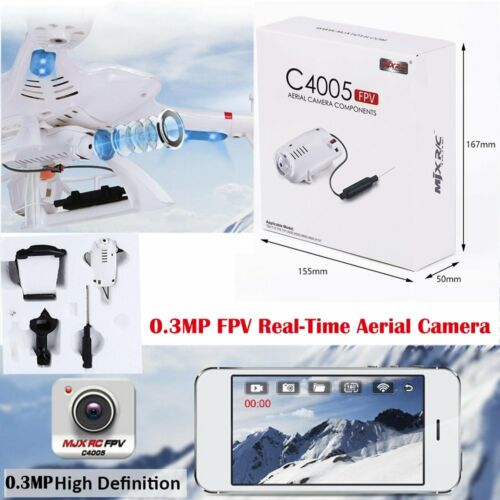 US FPV Real-Time Aerial Camera Helicopter Components 0.3MP for MJX C4005 X400 WW