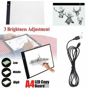 A4-LED-Ultra-Thin-3-Brightness-Level-Art-Stencil-Board-Light-Tracing-Drawing-Pad