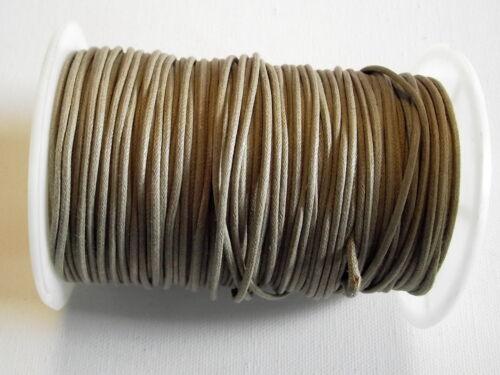 loisirs créatif lacet coton au choix Couleurs 2m Cordon ciré épais 2 à 3 mm