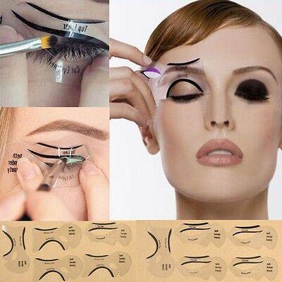 6Pcs Stencil Card Makeup Model Eye Eyeliner Beauty Cat Kit Women Smokey Set