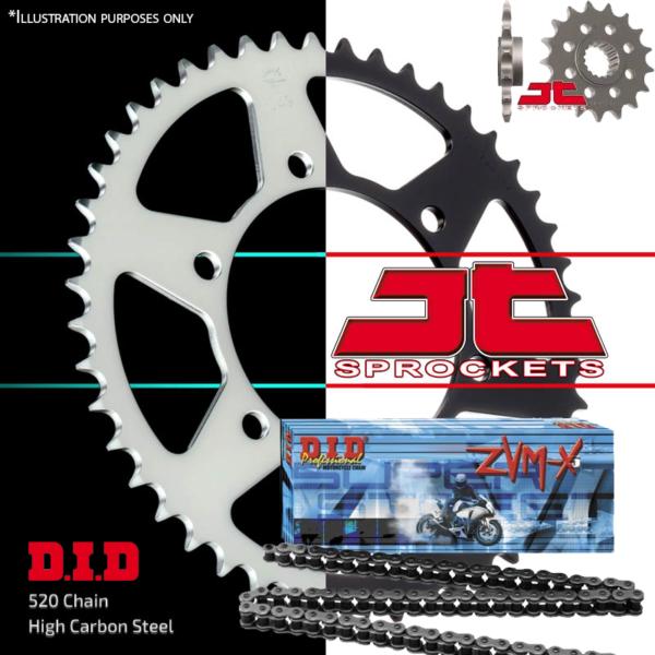 100% Kwaliteit Did Zvmx X-ring Chain And Sprocket Kit 16/45 Jtf394.16 Jtr22.45 520-112 Koop Altijd Goed