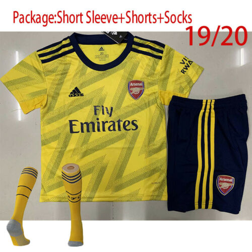 19//20 Soccer Suits Arsenal Football KIts Soccer Suits For Kids Boys Adults SML