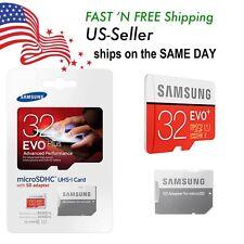 SAMSUNG EVO Plus 32GB MicroSD Micro SDHC C10 Flash Memory Card w/ SD Adapter