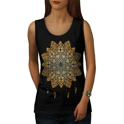Wellcoda Mandala Yoga Womens Tank Top, Spiritual Athletic Sports Shirt Entlastung Von Hitze Und Sonnenstich