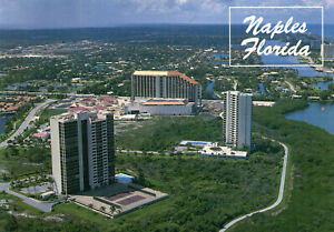postcard-USA-Florida-Naples-aerial-view-unposted
