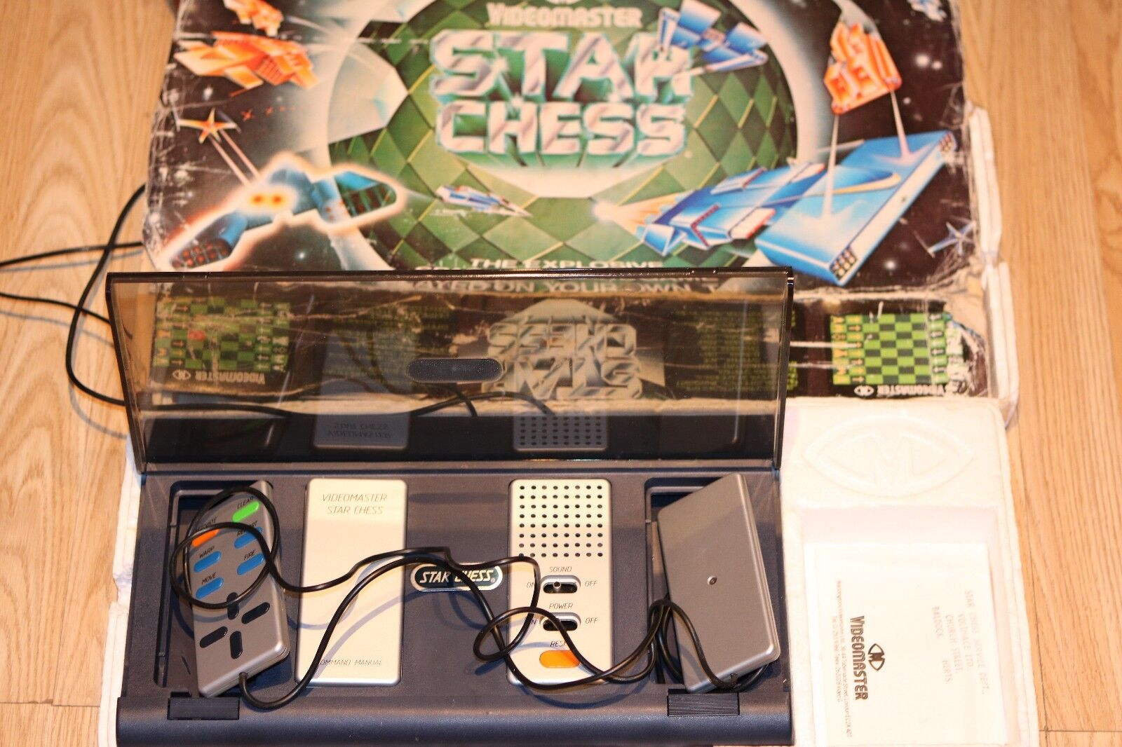 RARE VINTAGE VIDEOMASTER STAR CHESS ELECTRONIC GAME WORKING 1979
