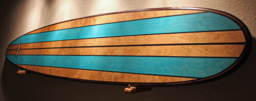 Wood Surfboard Art Bar Top Shower Vintage Hawaiian Tiki Bar Decor