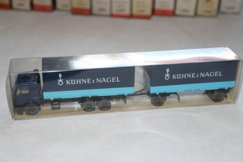 Wiking 1:87 H0 LKW Wechselpritschen Lastzug MB Kühne /& Nagel Berlin-W OVP 52