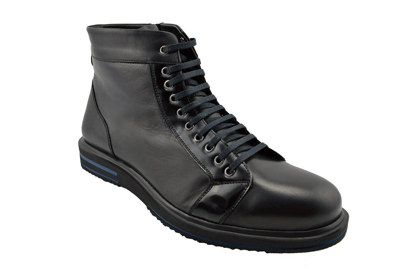 230 MASQLEN Black Calf Leather BIKER Ankle Boots Men shoes NEW COLLECTION