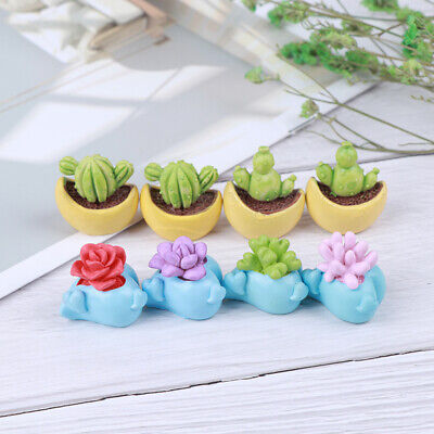 2Pcs 1:12 Scale Dollhouse Miniature Toy Flower Picture Frame Doll Home Decor
