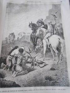 HonnêTe Gravure 1867 La Chasse Au Faucon En Algérie